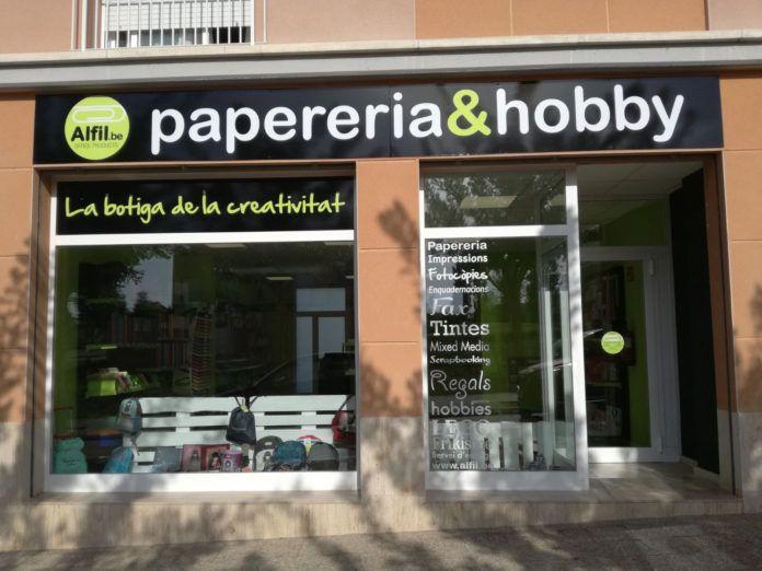 Nueva papelería Alfil.be en Llagostera (Girona)