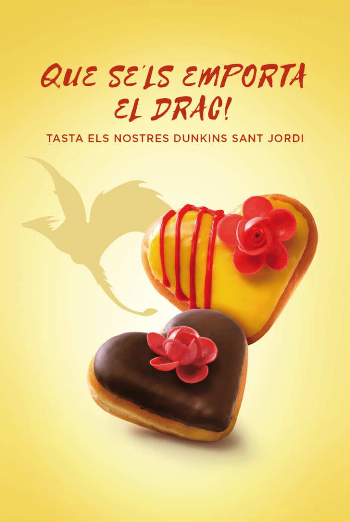 Dunkin' Coffee se suma a la festividad de Sant Jordi en Cataluña