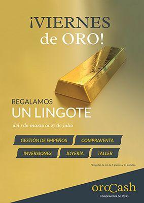 Orocash premia a sus clientes con 22 lingotes de oro