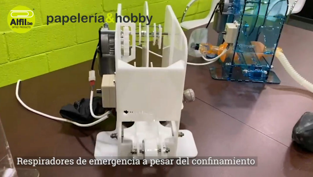 Alfil be fabricación de respiradores COVID 19